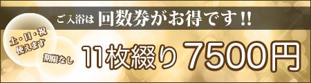 回数券 11枚綴り6500円