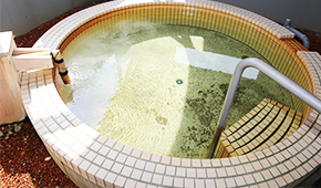 源泉かけ流しの湯写真