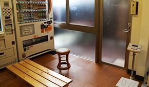 脱衣所自動販売機/休憩スペース写真